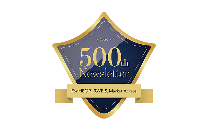 Decorative badge reading '500th Newsletter'